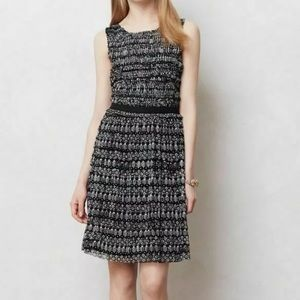 Anthropologie Postmark Printed Mesh Dress Sz S
